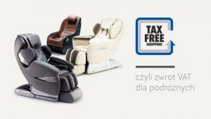 fotele masujące w systemie tax free