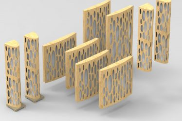 wełniane panele akustyczne