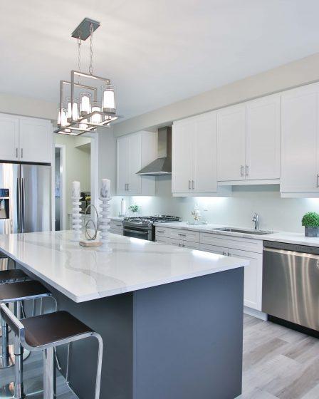 wyspa kuchenna z kwarcytu - stylowy pomysł na kuchnię