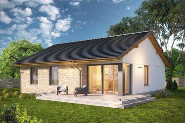 Dom parterowy - projekt nowoczesnego modelu.