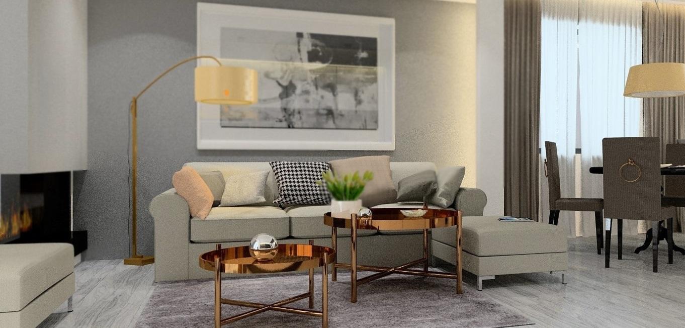 projekt wnętrza apartamentu na woli